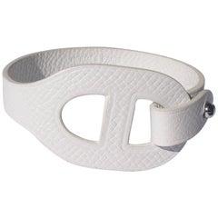 MA-GNI-FIC Hermès Bracelet Iona Epsom Leather White Size XS / BRAND NEW