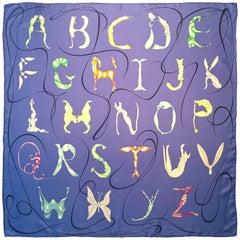 Hermes Alphabet Silk Scarf by Florence Manlik.