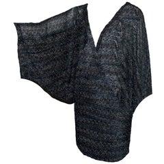Missoni Midnight Blue Lurex Kaftan Mini Dress