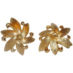 Monet Gilded Gold Vermeil Hardware Earrings