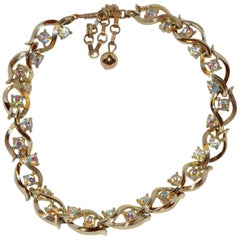 Lisner Gilded Gold Vermeil with Multi-Color Accent Necklace