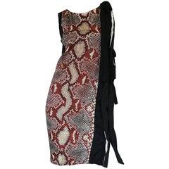 S/S 2009 Prada Runway Snakeskin Print Open Side Dress