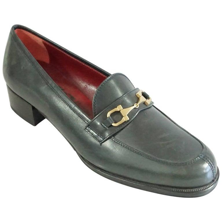 Salvatore Ferragamo Black Leather Loafers - 6.5 B