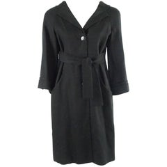 Gucci Black Light Wool 3/4 Coat Dress - 42 - NWT
