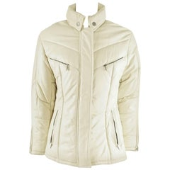 Gucci Bone Leather Puffer Jacket with Hood - 46