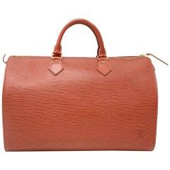 Vintage Louis Vuitton Speedy 35 Brown Kenyan Fawn Epi Leather City Hand Bag