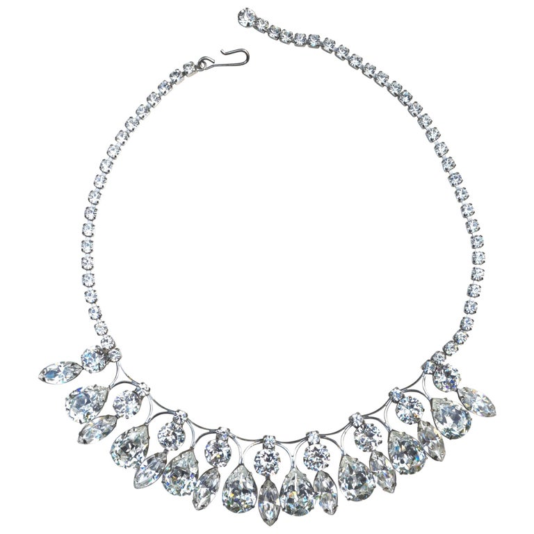 Weiss Glam Glass Drop Necklace  1