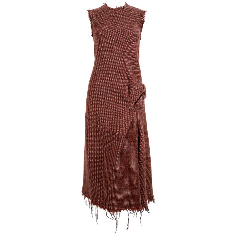 Junya Watanabe Comme des Garcons tweed runway dress, 2003   For Sale