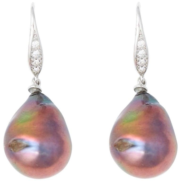 Black Pearl Drop Earrings 1