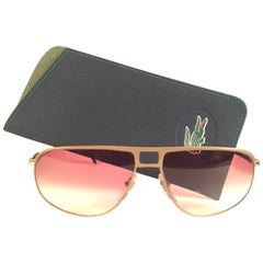 New Vintage Lacoste Gold Rose Gradient 1980's Sunglasses Made in France