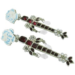 Christian Lacroix Vintage Jewelled Dangling Earrings