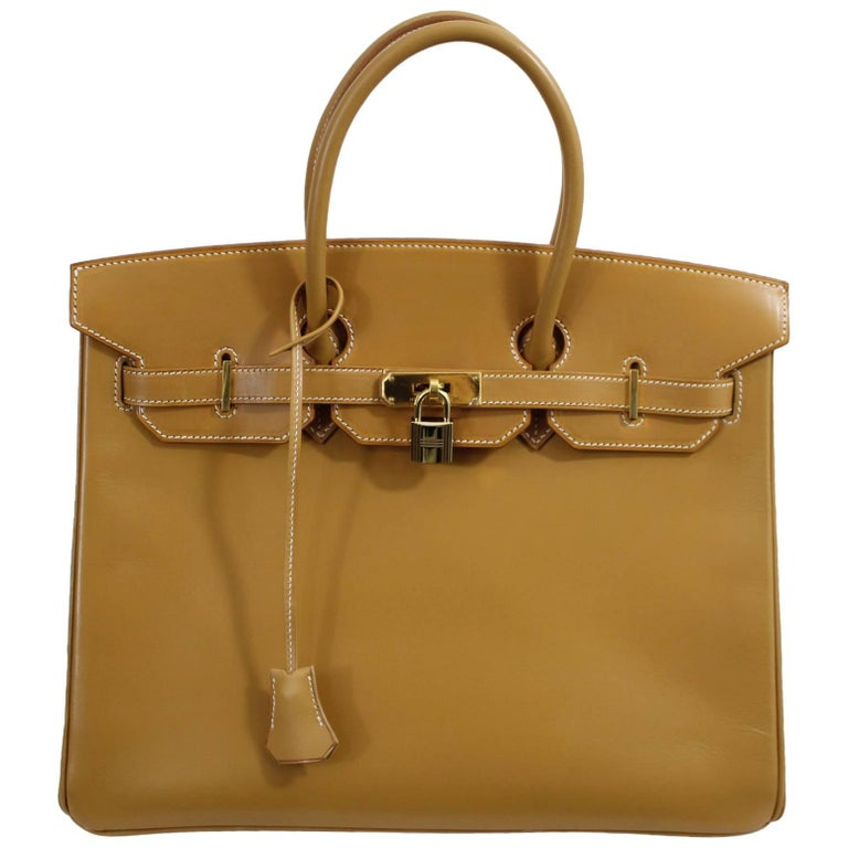 Lovely 2004 Hermes Birkin 35in Natural Calf Leather. Excellent condition. For Sale at 1stdibs
