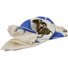 """Lovely Hard to find Hermes Silk Scarf """"Polo Cup Palm Beach"""""""