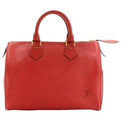 Louis Vuitton Red Epi Leather Speedy 25 City Bag