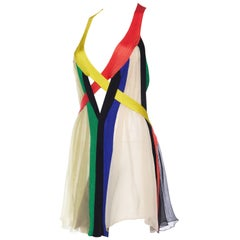 Jean Paul Gaultier Sheer Rainbow Strap Dress