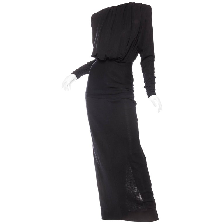 Galanos Structured Wool Jersey Gown For Sale