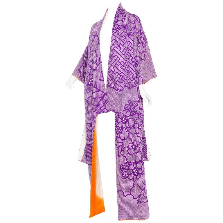 Hand Dyed Japanese Shibori Kimono