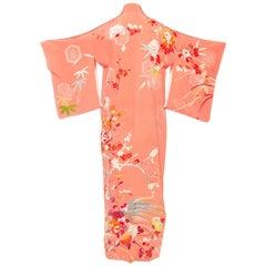 Hand Painted Antique Silk Kimono