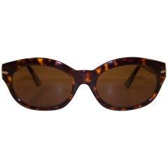 Italian C.1990 Persol Cat Eye Style Tortoise Sunglasses