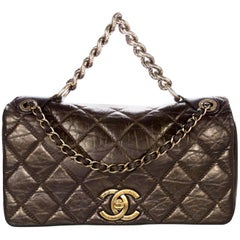 Chanel Metallic Brown Aged Calfskin Small Pondicherry Flap Bag