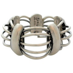 Antonio Pineda Sterling Silver Modernist Bracelet