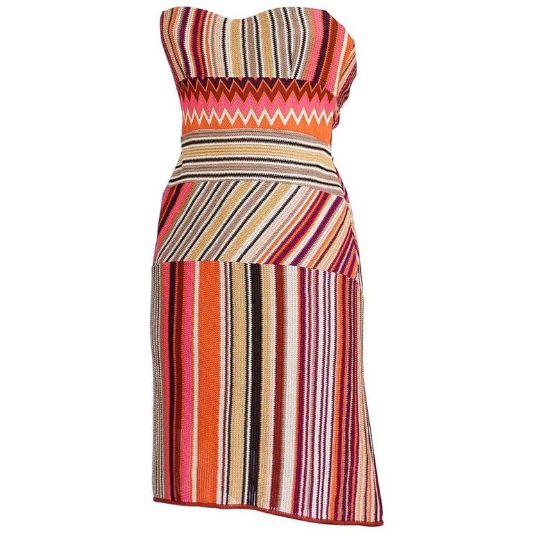 Missoni Dress Strapless Stunning Knit Rear Fishtail  42 / 6  nwt