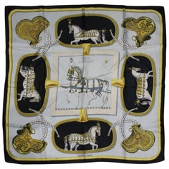"Hermes ""Grand Apparat"" Vintage Silk Scarf"