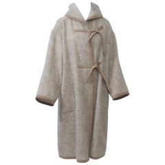 Mohair Coat with Ultrasuede Trim