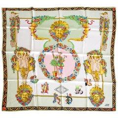 Gianni Versace Atelier Scarf Exquisite Garden Print Silk