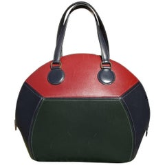Rare Hermes Ile De Shiki Bag 3 colors Navy Blue Dark Green Red Box Leather GDW