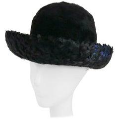 1960s Feather & Fur Felt Hat