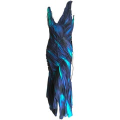 Issey Miyake Bergdorf Goodman 1990's Tie Dye Ruched Dress New with Tags