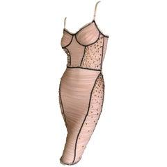 D&G Dolce & Gabbana Vintage Jewel Embellished Mini Cocktail Dress