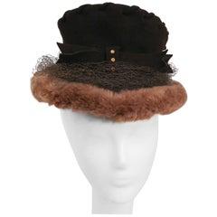 1940s Fur & Felt Hat