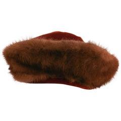 1940s Velvet & Mink Hat
