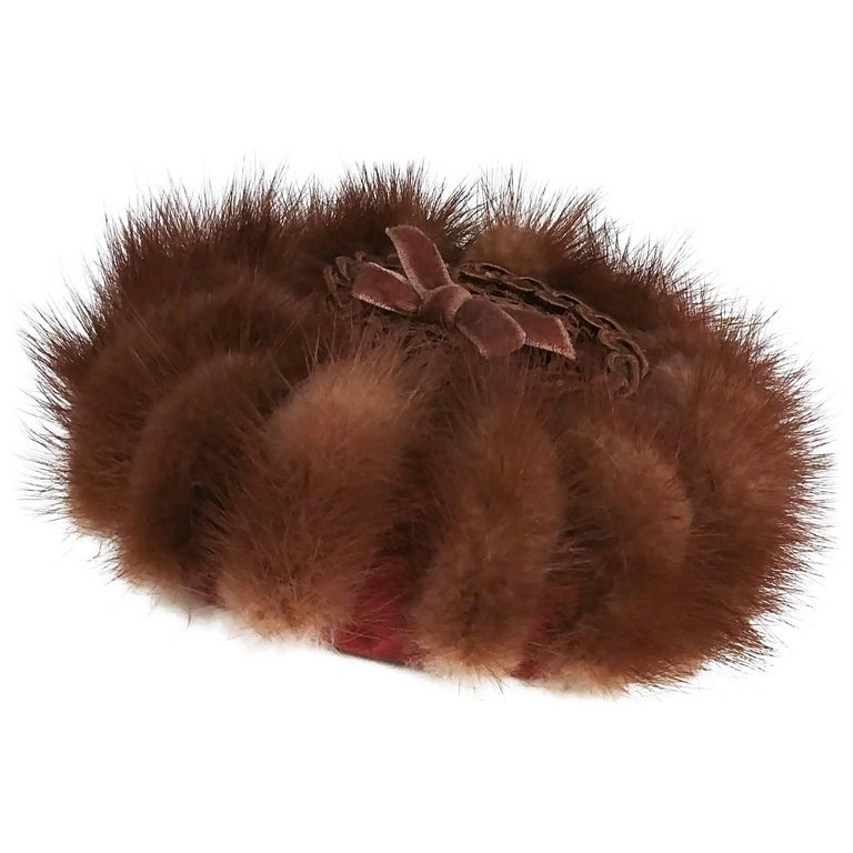 1940s Small Mink Hat