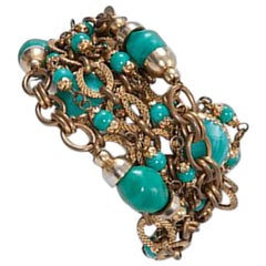 Chanel Turquoise Multi-Strand Bracelet