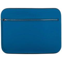 New Hermes Blue Zanzibar Epsom Clutch