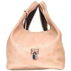 Loewe Rose Leather Calle Hobo Tote Bag