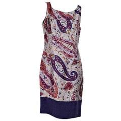 Multicolor Etro Paisley-Printed Dress