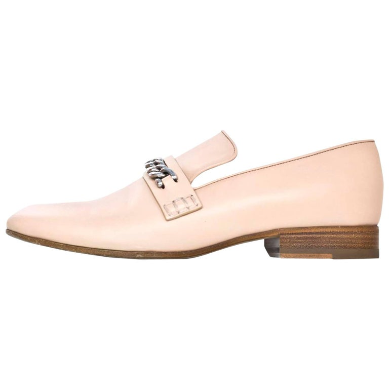 Celine Phoebe Philo Collection Nude Loafers Sz 39.5 with Box