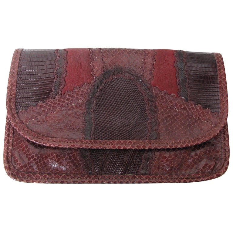 Carlos Falchi Patchwork Clutch 1