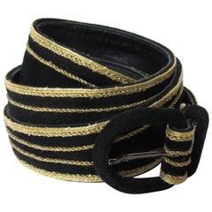 1970s Yves Saint Laurent Double Wrap Waist Belt