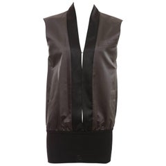 John Bartlett Charcoal Grey Duchess Silk Satin Vest, Autumn - Winter 1999
