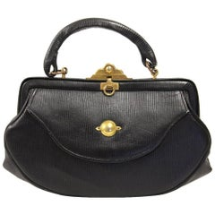 1960s Roberta di Camerino Black Leather Purse