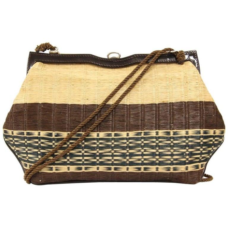 1960s Roberta di Camerino Raffia Shoulder Bag