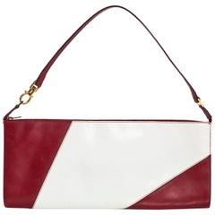 Salvatore Ferragamo Red and White Pochette Bag