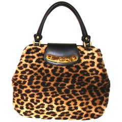 Chic Large  Mod Leopard Print Bag with Double Handles