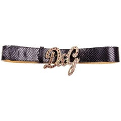 Dolce and Gabbana D&G Pink Rhinestone Belt