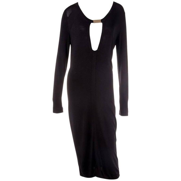 Gucci Plunging Knit Dress 1